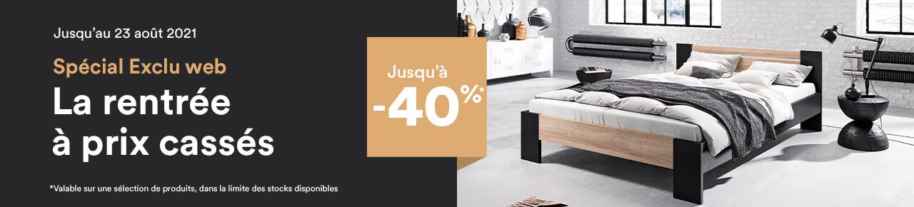 Exclu web : Jusqu'à - 40% sur une sélection de produits