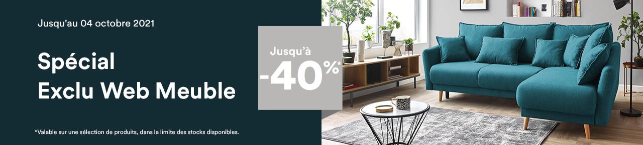 Exclu Web meuble : Jusqu'à -40% sur une sélection de produit