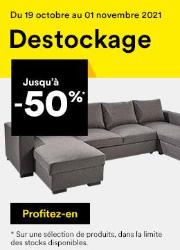 Destockage jusqu'à -50%