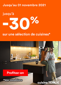 Jusqu'à -30% sur une sélection de cuisines