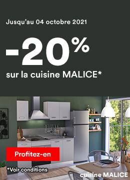 -20% sur la Cuisine Malice