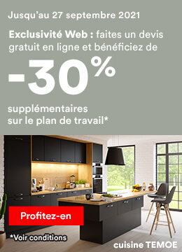 -30% supplémentaires sur le plan de travail