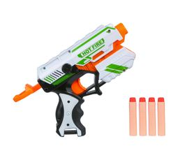 Pistolet Avec Munitions En Mousse Hot Fire Blanc