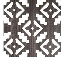 170 x 120 cm PEGANE Paravent Motif Ethnique Coloris Gris