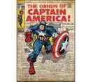 Stickers Repositionnables Géants Captain America, Marvel Comic Book - Captain America Marvel Comics