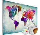Tableau En Liège World In Colors 120 X 80 Cm