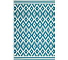 Tapis Tissé Now 300 Ivoire Turquoise 80 X 150 Cm