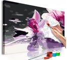 Tableau À Peindre Détail De Rose Orchidée - 40 X 40 Cm