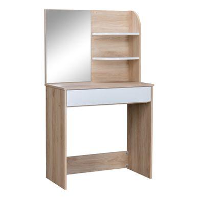 et 1 tiroir LOVIA  imitation chêne et blanc