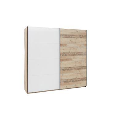 avec une double penderie  SALA Imitation bois et blanc