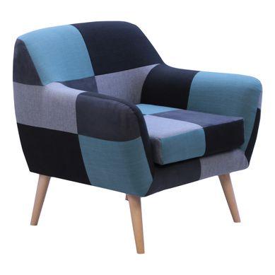 PATCH  Tissu patchwork bleu