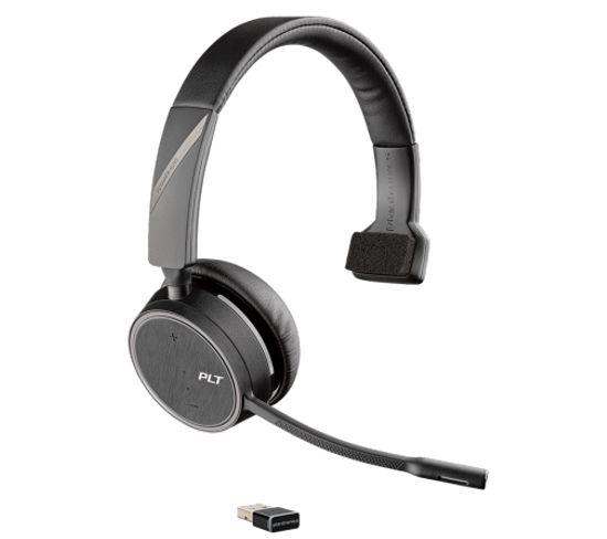 Casque Micro Bluetooth Voyager 4210 Uc Noir