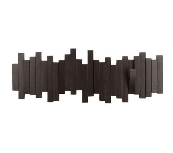 Porte Manteau Design Mural Sticks Expresso