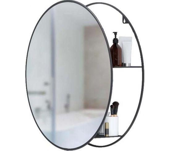 Miroir Rond Avec Rangement Intégré Cirko