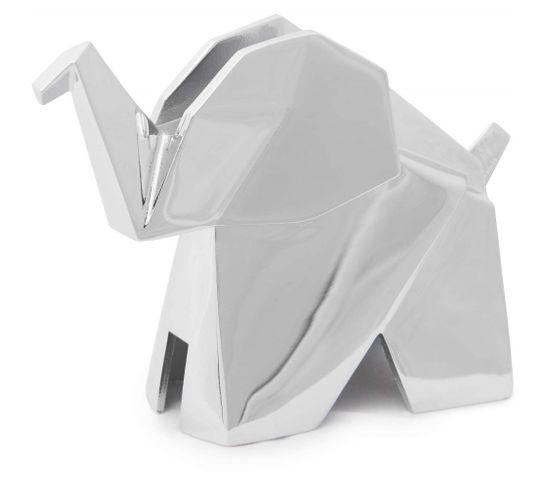 Porte-bagues Éléphant Chromé Origami