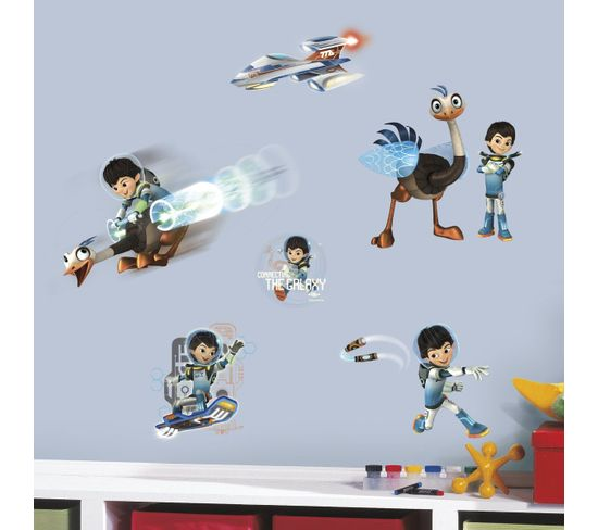 21 Stickers Personnages Miles Dans L'espace Disney