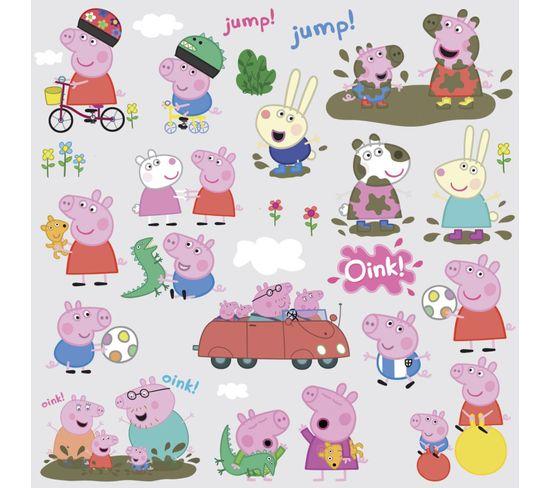 Stickers Repositionnables Peppa Pig 25,4cm X 45,7cm