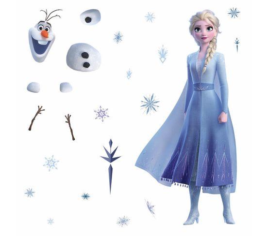Stickers Géant Elsa et Olaf La Reine Des Neiges 2 Disney