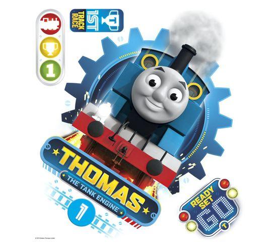 Sticker Géant Repositionnable Thomas Et Ses Amis Portrait  De Thomas 45,7cm X 50,8cm