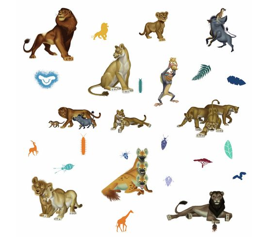 26 Stickers Film Le Roi Lion Disney