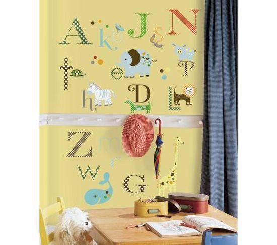 Stickers Repositionnables Alphabet Sur Le Thème Des Animaux - Alphabet Animaux
