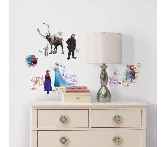 Stickers Repositionnables La Reine Des Neiges, Disney - La Reine Des Neiges Disney