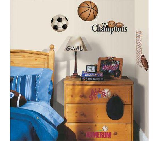 Stickers Repositionnables Sur Le Thème Des Sports À Ballons - Sport Ballons