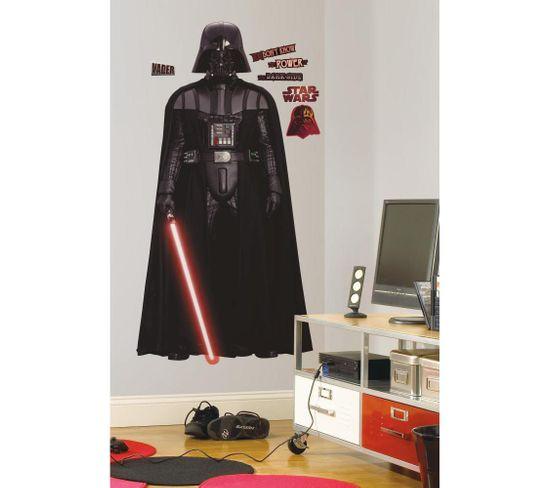 Stickers Repositionnables Géants Dark Vador, Star Wars 178x93 - Star Wars Dark Vador