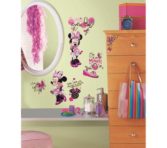 Stickers Repositionnables Minnie Fashionista, Disney - Disney Minnie Fashionista