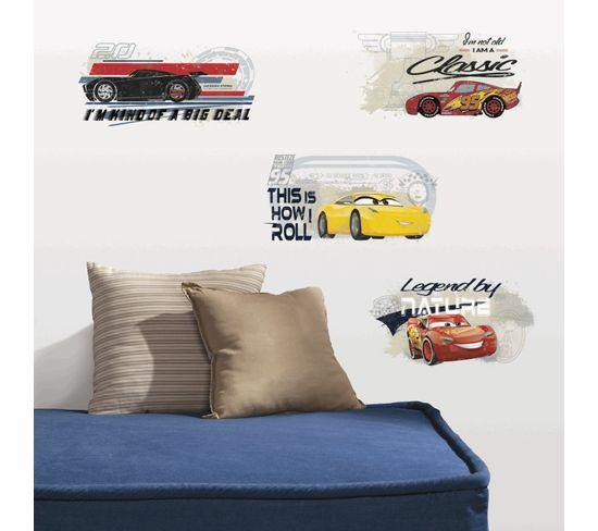 Stickers Disney Cars 3 - Modèle Flash Mc Queen Et Ses Amis