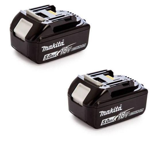Pack De 2 Batteries 197288-2 Avec Témoin De Charge - 18 V 5 Ah Li-ion