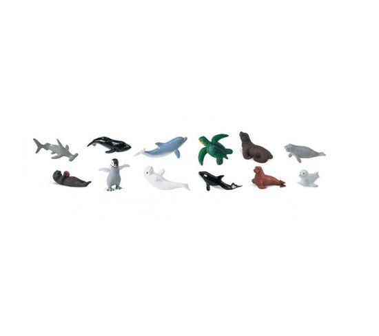 12 Figurines Bébés Animaux Marins
