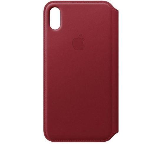 Étui Folio En Cuir Pour iPhonexsmax - (product)red