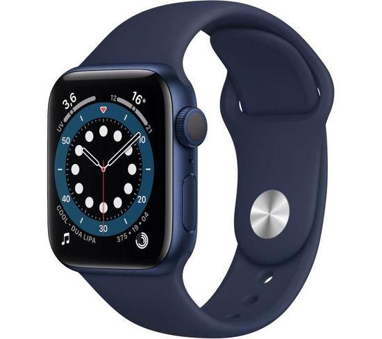 Montre Connectée Series 6 Gps Boîtier En Aluminium Bleu Avec Bracelet Sport Bleu Intense