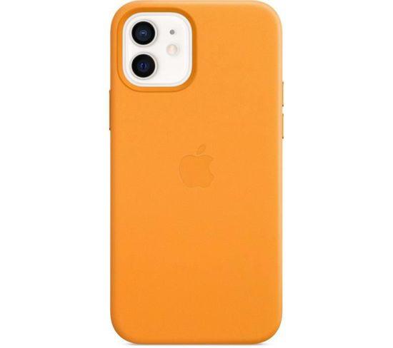 iPhone 12   12 Pro Coque En Cuir Avec Magsafe - Pavot De Californie