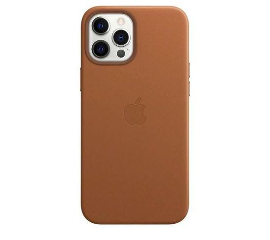 Coque En Cuir iPhone 12 Pro Max Avec Magsafe - Brun Selle