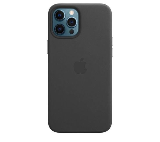 Coque En Cuir iPhone 12 Pro Max Avec Magsafe - Noir