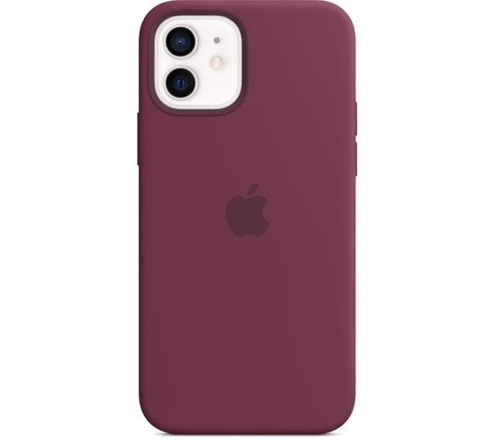 Coque En Silicone iPhone 12 | 12 Pro Avec Magsafe - Prune