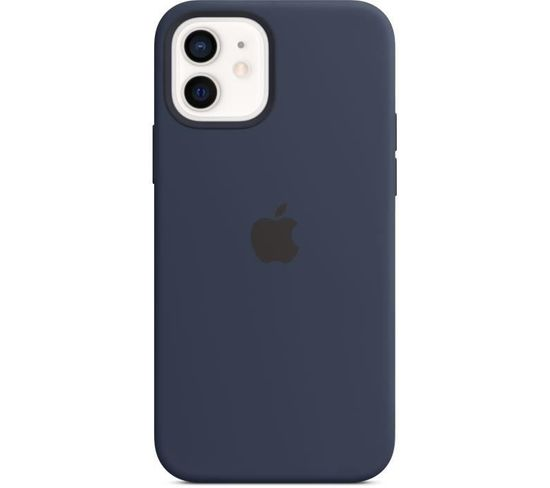 Coque En Silicone iPhone 12 | 12 Pro Avec Magsafe - Bleu Marine
