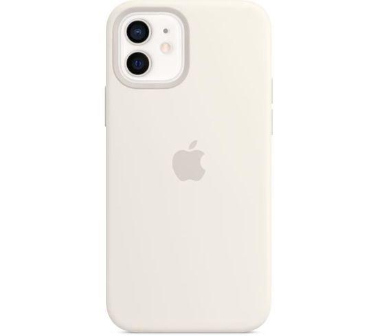 Coque En Silicone iPhone 12 | 12 Pro Avec Magsafe - Blanc