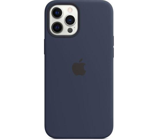 Coque En Silicone iPhone 12 Pro Max Avec Magsafe - Bleu Marine