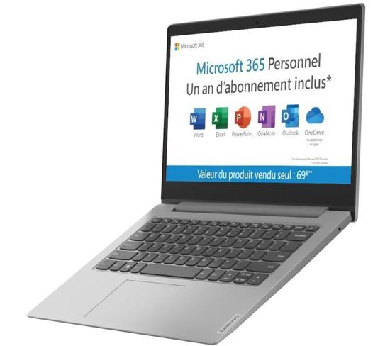 PC Portable Ultrabook  Ideapad 1 14igl05  14hd  Intel Pentium N5030 64go Emmc  Windows 10s