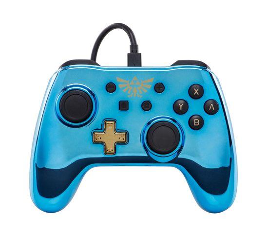 Legend Of Zelda Manette De Jeu Nintendo Switch Analogique/numérique Usb Bleu, Or