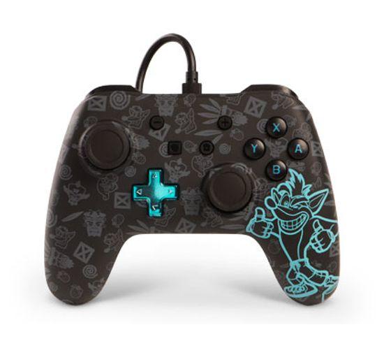 Crash Bandicoot Manette De Jeu Nintendo Switch Analogique/numérique Usb Noir, Cyan