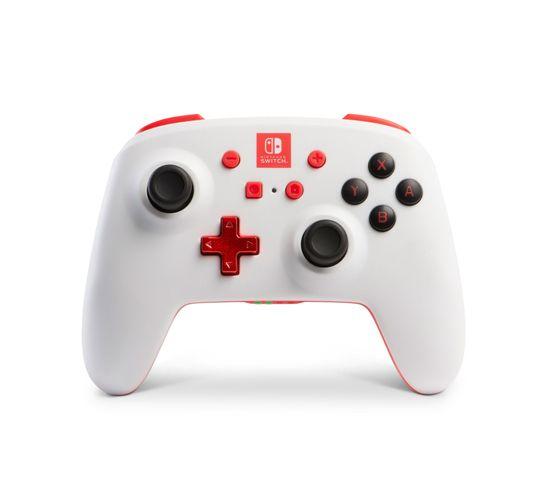 1507506  Manette De Jeu Nintendo Switch Analogique/numérique Bluetooth Rouge, Blanc