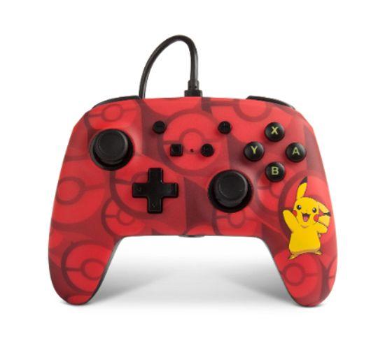 1513777-01  Manette De Jeu Nintendo Switch Usb Rouge