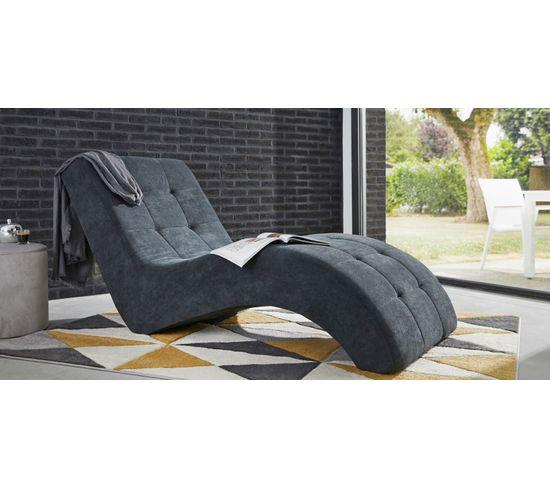 Chaise longue PATIO tissu Alfa gris clair
