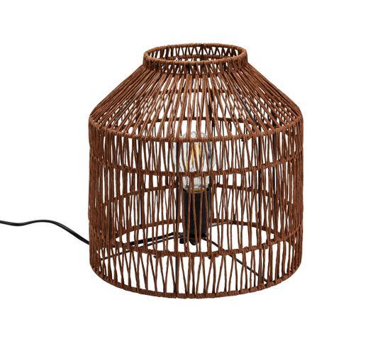 Lampe à poser corde H. 27,5 cm HATEYA naturel