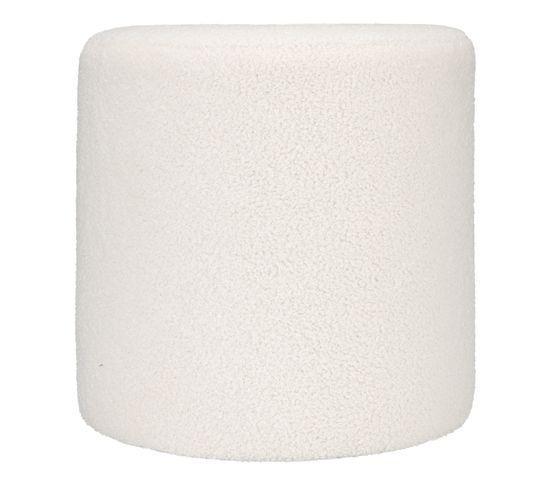 Pouf ø 35 cm SHAUN Blanc