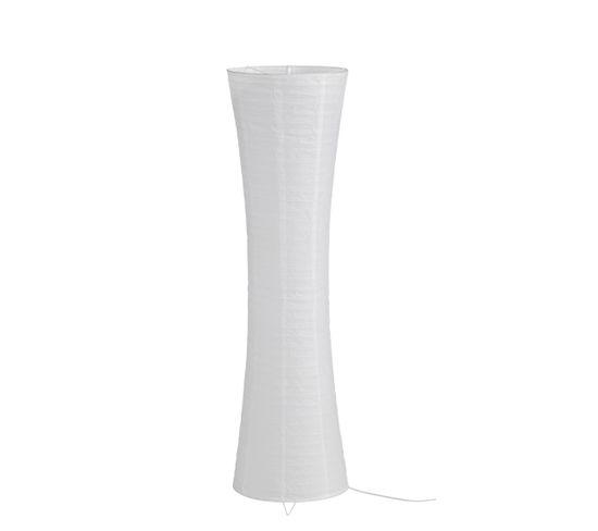 lampe de sol papier H. 130 cm NIKKO blanc